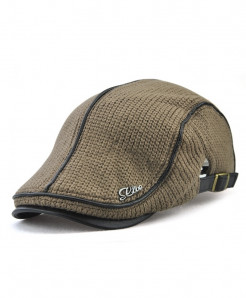 Jamont Coffee Wool Solid Berets Hat