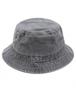 Betafish Gray Cotton Solid Hat