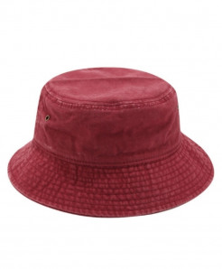 Betafish Dark Red Cotton Solid Hat