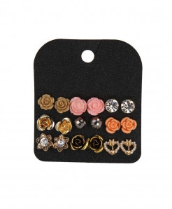 Marte Joven Rhinestone Zinc Alloy Earrings AT-519