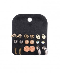 Marte Joven Rhinestone Zinc Alloy Earrings AT-514