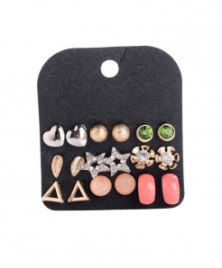 Marte Joven Rhinestone Zinc Alloy Earrings AT-512