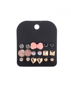 Marte Joven Rhinestone Zinc Alloy Earrings AT-511