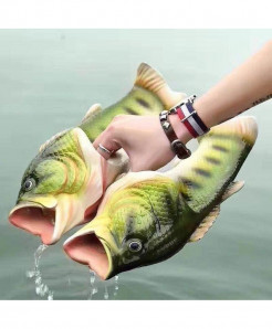 Besed Green Pvc Fish Slippers
