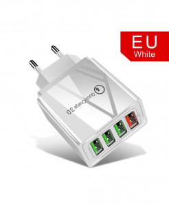 Olaf White Eu Quick Charger 3.0 USB Charger AT-716