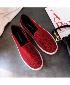 Bonjean Red Slip-On Eva Casual Shoes AT-625