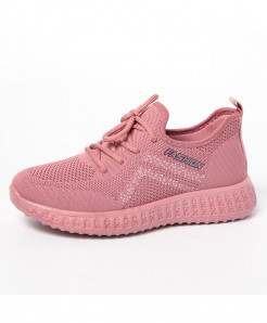 Pink Solid Eva Mesh Casual Shoes