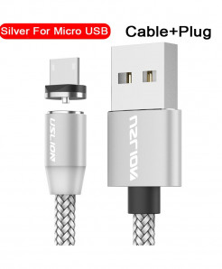 Uslion Silver Magnetic Usb Fast Charging Data Cable