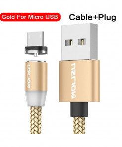 Uslion Golden Magnetic Usb Fast Charging Data Cable