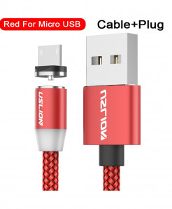 Uslion Red Magnetic Usb Fast Charging Data Cable