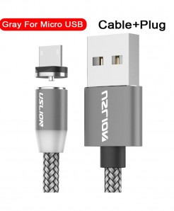 Uslion Gray Magnetic Usb Fast Charging Data Cable