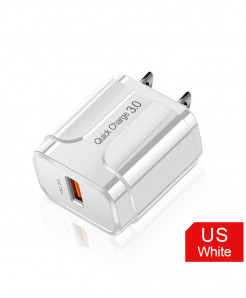 Olaf White Us 3A Quick Charge 3.0 USB Charger