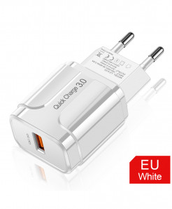 Olaf White 3A Quick Charge 3.0 USB Charger