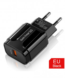 Olaf Black 3A Quick Charge 3.0 USB Charger