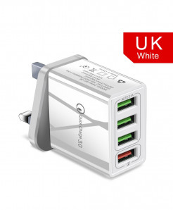 Olaf White Uk Quick Charger 3.0 USB Charger AT-720