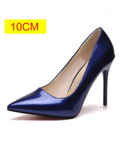 Blue Slip-On Pointed Toe Pumps