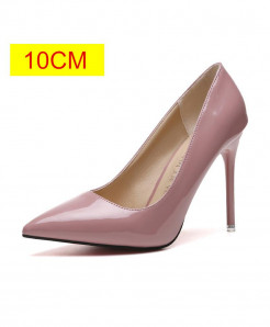 Pink Slip-On Pointed Toe Pumps