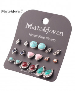 Marte Joven Acrylic Zinc Alloy Earrings AT-734