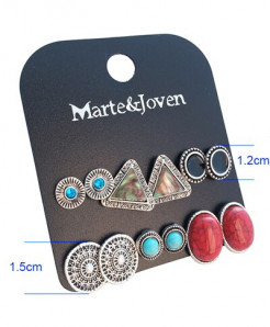 Marte Joven Acrylic Zinc Alloy Earrings AT-733