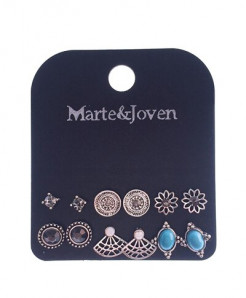 Marte Joven Acrylic Zinc Alloy Earrings AT-732