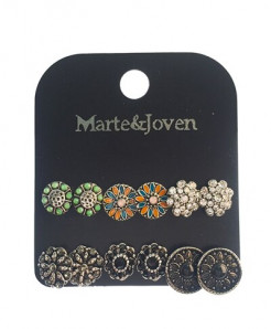Marte Joven Acrylic Zinc Alloy Earrings AT-731