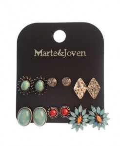 Marte Joven Acrylic Zinc Alloy Earrings AT-730