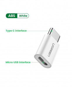 Ugreen White Type C OTG Adapter
