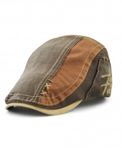 Tohuiyan Coffee Cotton Patchwork Cap