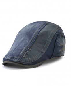 Tohuiyan Blue Cotton Patchwork Cap