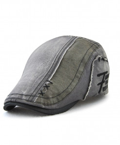 Tohuiyan Gray Cotton Patchwork Cap
