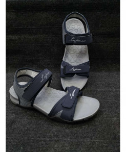 Dark Gray Two-Strap Design Casual Sandal LW-6035