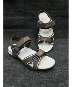 Brown Two-Strap Design Casual Sandal LW-6031