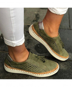 Classic Zapatillas Green Slip-On Casual Shoes AT-6022