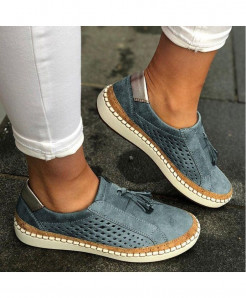 Classic Zapatillas Gray Slip-On Casual Shoes AT-6021