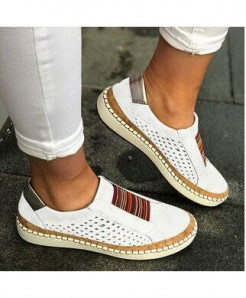 Classic Zapatillas White Slip-On Casual Shoes