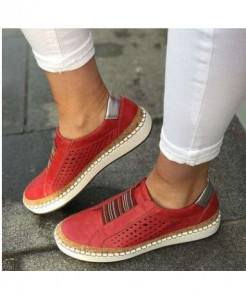Classic Zapatillas Red Slip-On Casual Shoes