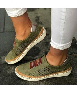 Classic Zapatillas Green Slip-On Casual Shoes