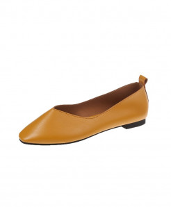 Yellow Split Leather Eva Shoes