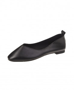 Black Split Leather Eva Shoes