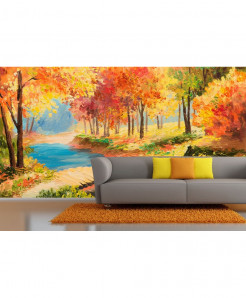 3D Colorfull Autumn Wallpaper BNS-371