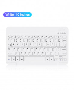 Coolreall White Bluetooth Wireless Keyboard For IOS Ipad Android AT-444