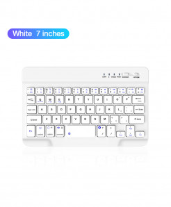 Coolreall White Bluetooth Wireless Keyboard For IOS Ipad Android