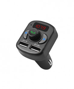 Olevo Black Fm Transmitter Car Charger