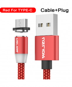 Uslion Red Magnetic Type C Usb Fast Charging Data Cable