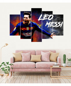 Lionel Messi 5 Piece HD Wall Frame SA-65