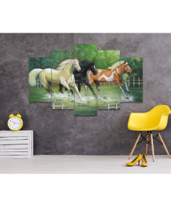 Horse 5 Piece HD Wall Frame SA-103