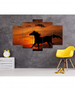 Horse 5 Piece HD Wall Frame SA-100