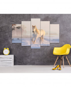 Brown Horse 5 Piece HD Wall Frame SA-99