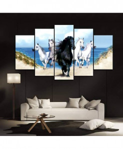 Black Horse 5 Piece HD Wall Frame SA-96