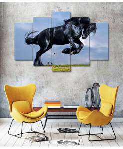 Beautiful Horse 5 Piece HD Wall Frame SA-95